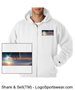 Sunisthefuture Unisex Champion Heavyweight Zip Hooded Sweatshirt Gw2 Design Zoom