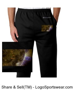 SUnisthefuture Unisex 50/50 Heavyweight Fleece Open Bottom Pant Bb1 Design Zoom